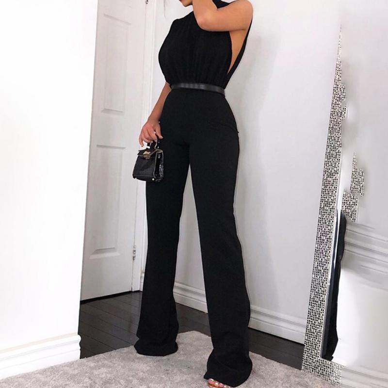 Kadın Tulumlar Tulum Kancoold Tulum Moda Yüksek Yaka Kravat Rahat Katı Renk Parti Streetwear Kadınlar 2021mar24