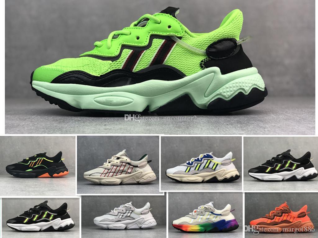 2020 Womens Ozweego New Mens Running Shoes Moda 3M pipoca Sapatos esportivos casuais anda ao ar livre Athletic Sneakers 5-11