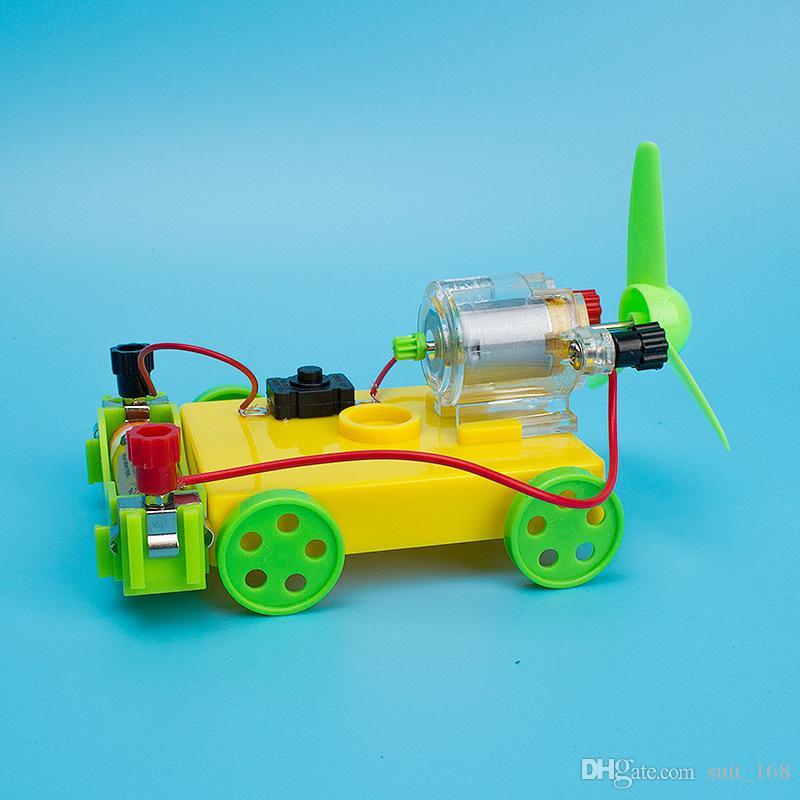 Воздушная тележка физическая наука и техника малое производство handDIY научный экспериментальный материал сила отдачи четырехколесный транспортер