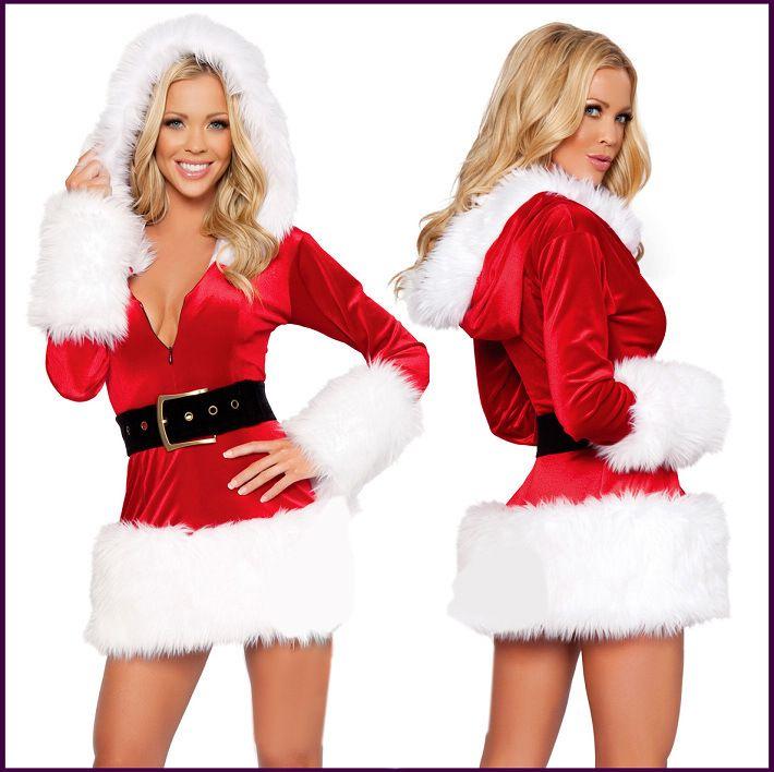 Рождество платье Равномерное Искушение Сексуальное бельё костюм 2020 Новый год Новый Рождество Раскрывая юбка