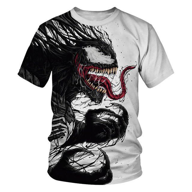2019 Summer Newest Big Boy Girl Venom t-shirt Kids 3D Printed T-shirts Children Casual Tshirt Short Sleeve Pullover Punk T Shirt