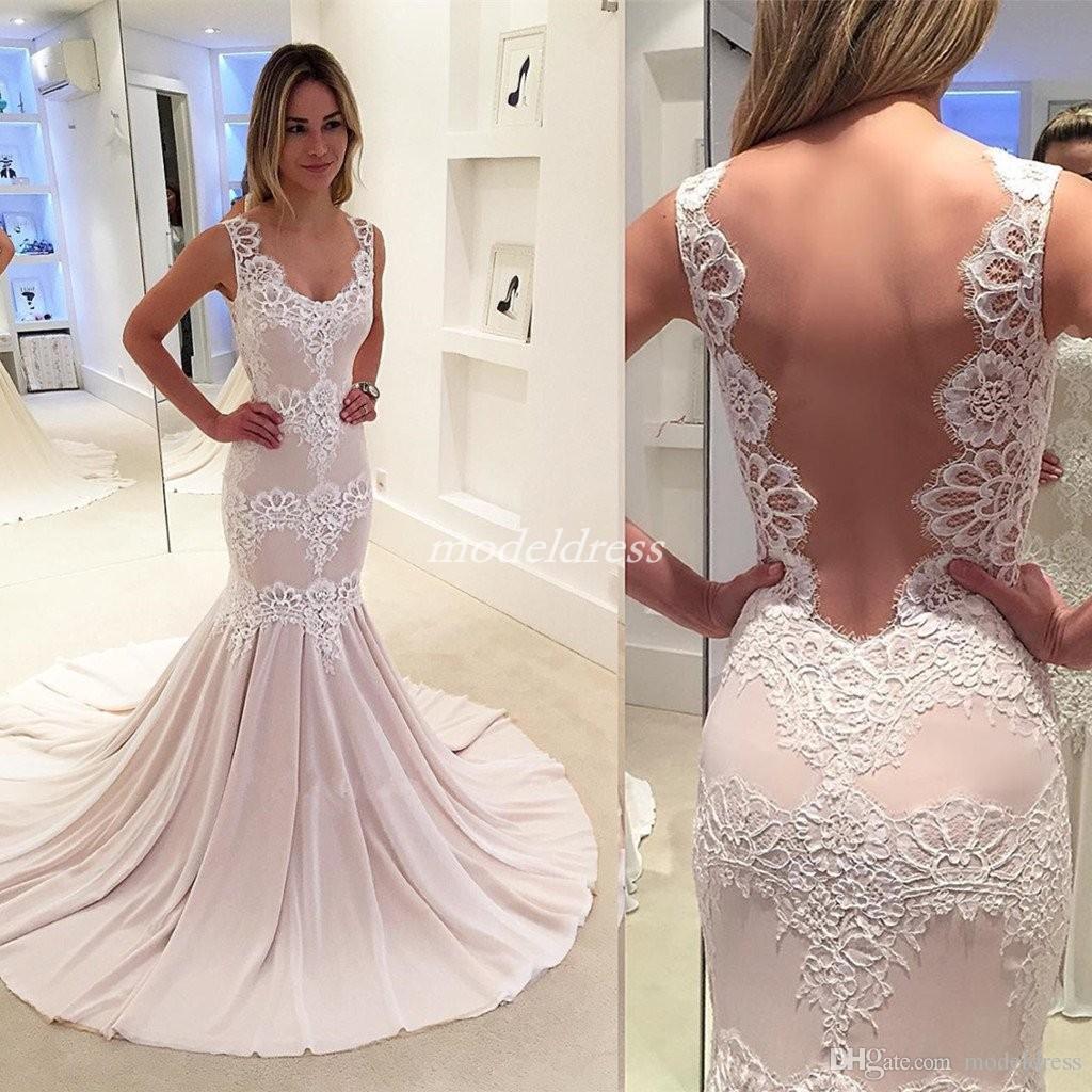 2019 robes de bal de sirène de champagne rose voir à travers le train de balayage appliques longues robes de soirée de soirée une occasion spéciale robe plus la taille