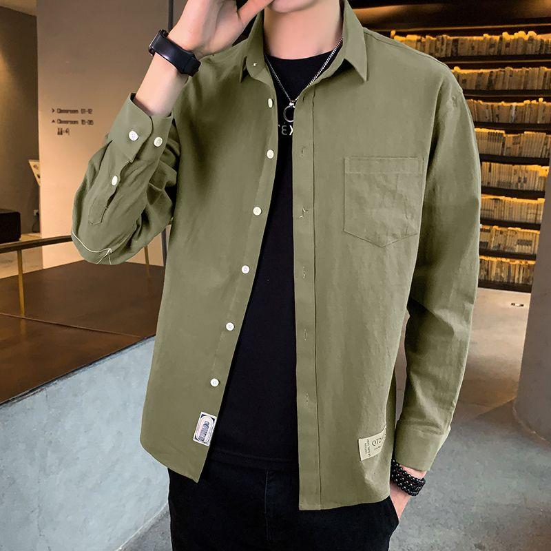 Camisa Casual Primavera Outono Men manga comprida de alta qualidade 2020 Japão estilo solto Streetwear Plus Size M-4XL Clothes