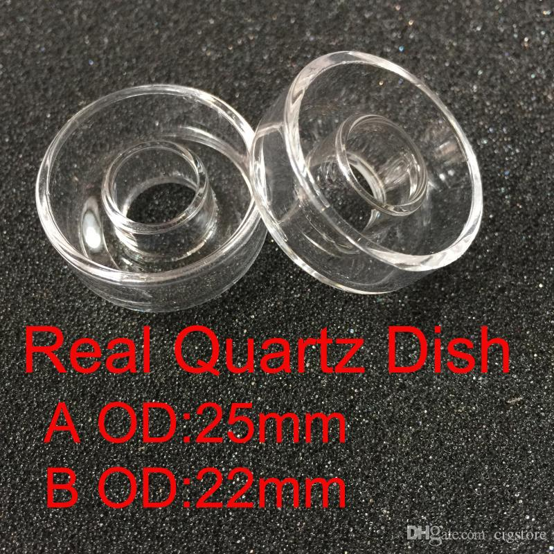 Replacement Quartz Dish for Hybrid Titanium nail Outer diameter 25mm and 22mm in stock for oil rigs glass bongs smoking pipe