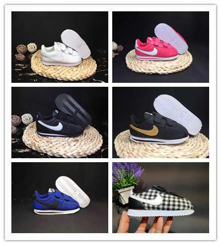 nike cortez Bambini Scarpe sportive in corso delle ragazze scarpe da tennis casuali pattini atletici Scarpe da corsa per bambini per i bambini gancio ciclo Leathe CALDO