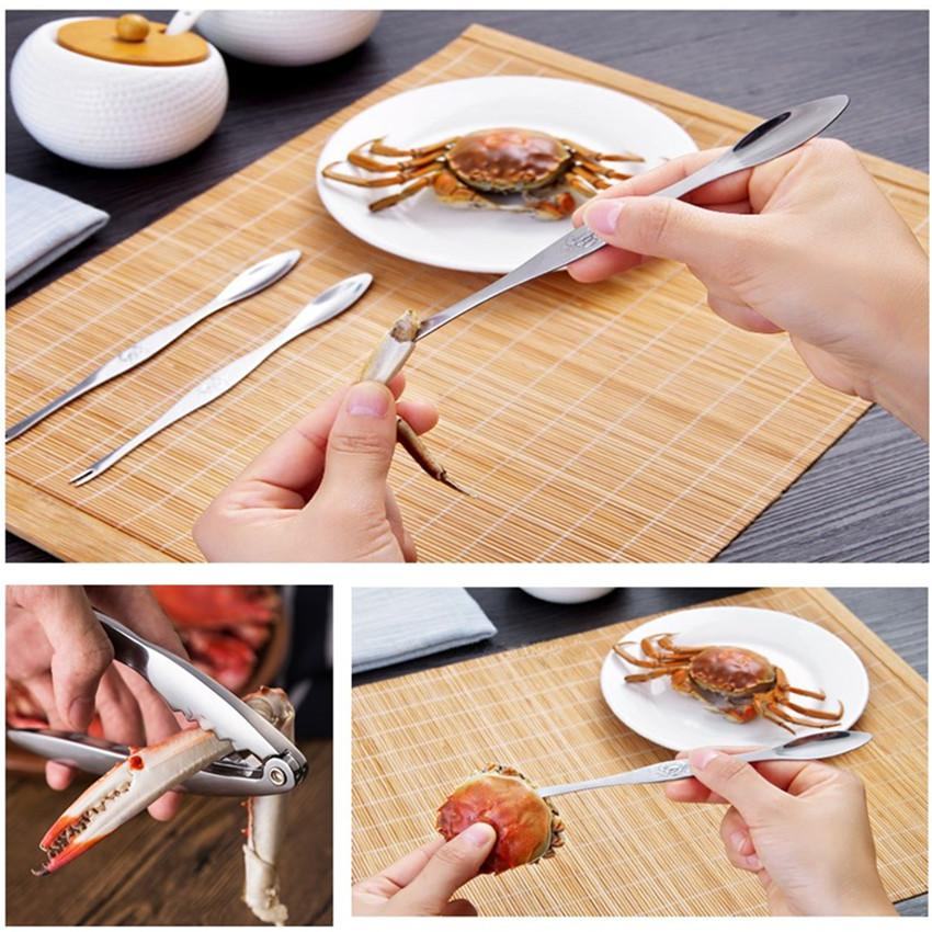 Aço inoxidável Lobster Tools Crab Seafood Escolhas Lobster fruta agulha Forks Spoons Seafood Acessório Criativo Fruit Fork