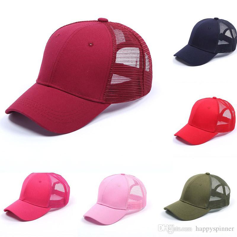 Gorra de béisbol de la moda de primavera y verano de cuadrícula gorra de béisbol del algodón del recorrido al aire libre de la lengua dom 16 ColorCap