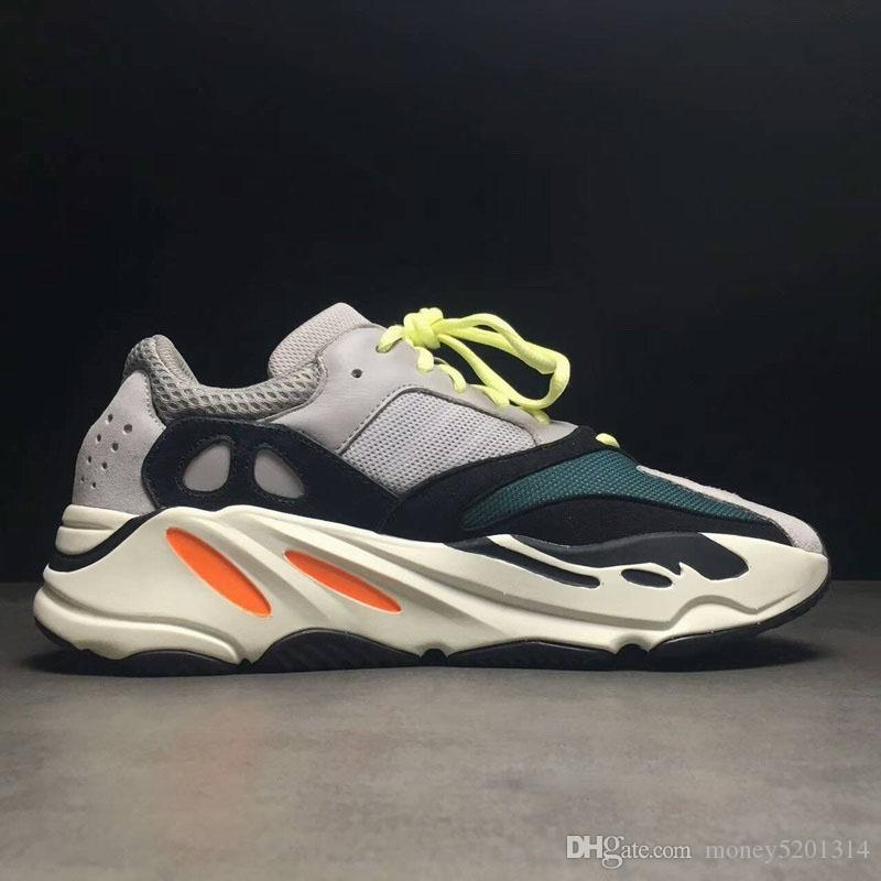 Adidas yeezy 700 yeezys Discount Kanye West Retro Runner 700 V2 Vague Gris Hommes Femmes solide gris craie blanche noir Taille de base Sneakers US5-11.5