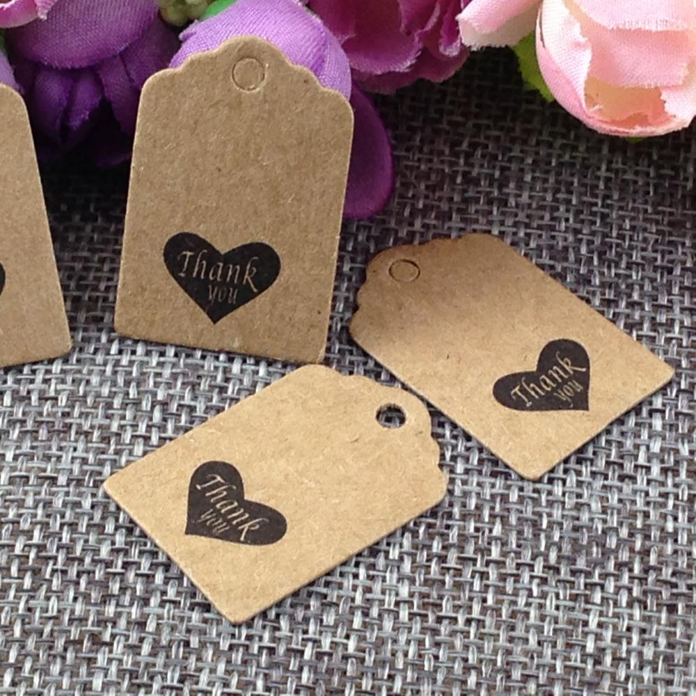 100PCS /lot Thank You kraft Tag for gift box and Paper Cards DIY Gift Tags for Handmade cake/garment/Gift box free shipping