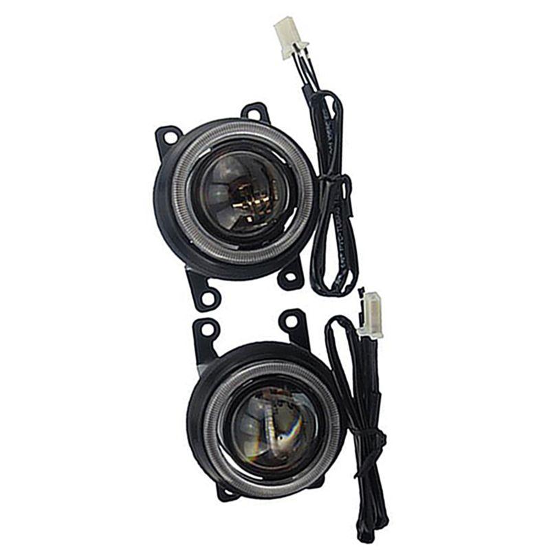 LED Halogen hid H16 H8 bulb spotlight High Low Beam Front bumper fog light lens holder assembly for RENAULT LOGAN 2007 2018