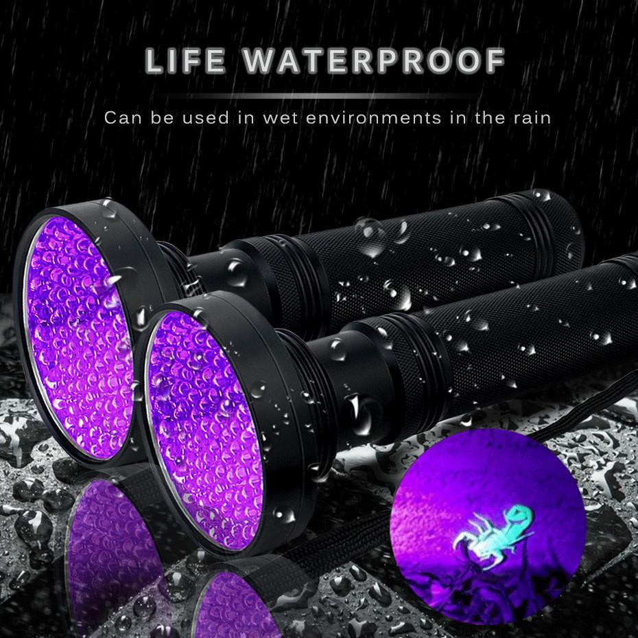 18W UV-Schwarz-Licht-Taschenlampe 100 LED Beste UV-Licht und Schwarzlicht für Home Hotel Inspektion, Pet Urinflecken