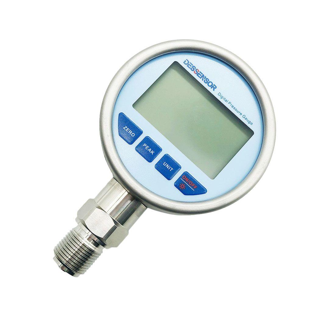 Digital Pressure Gauge 80mm Stainless Steel Battery-Powered LCD Backlight Display Air Liquid Fuel Oil Hydraulic Pressure Gauge