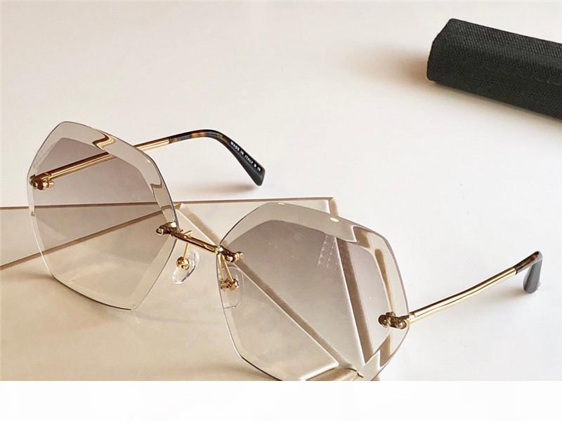 Senza telaio forma esagonale da sole da sole donne Occhiali da Sole Occhiali da sole rotondi molla occhiali da sole Nuovo con scatola