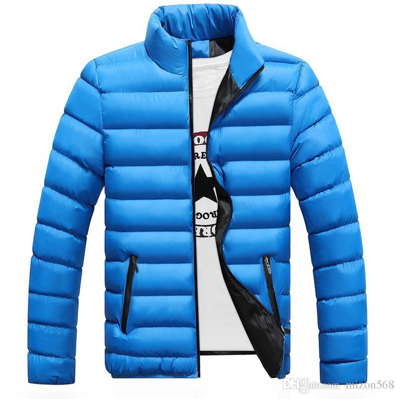 génération de manteau des hommes gras 2019 nouvelle hiver col chemise épaisse hommes de couleur unie de coton vers le bas nouveau