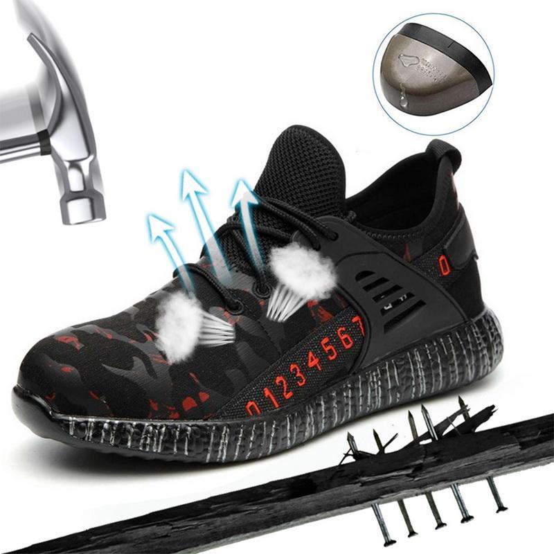 Puimentiua Hommes Indestructible Ryder Chaussures et femmes Steel Toe Air sécurité Bottes INCREVABLE travail Chaussures de sport Chaussures respirantes