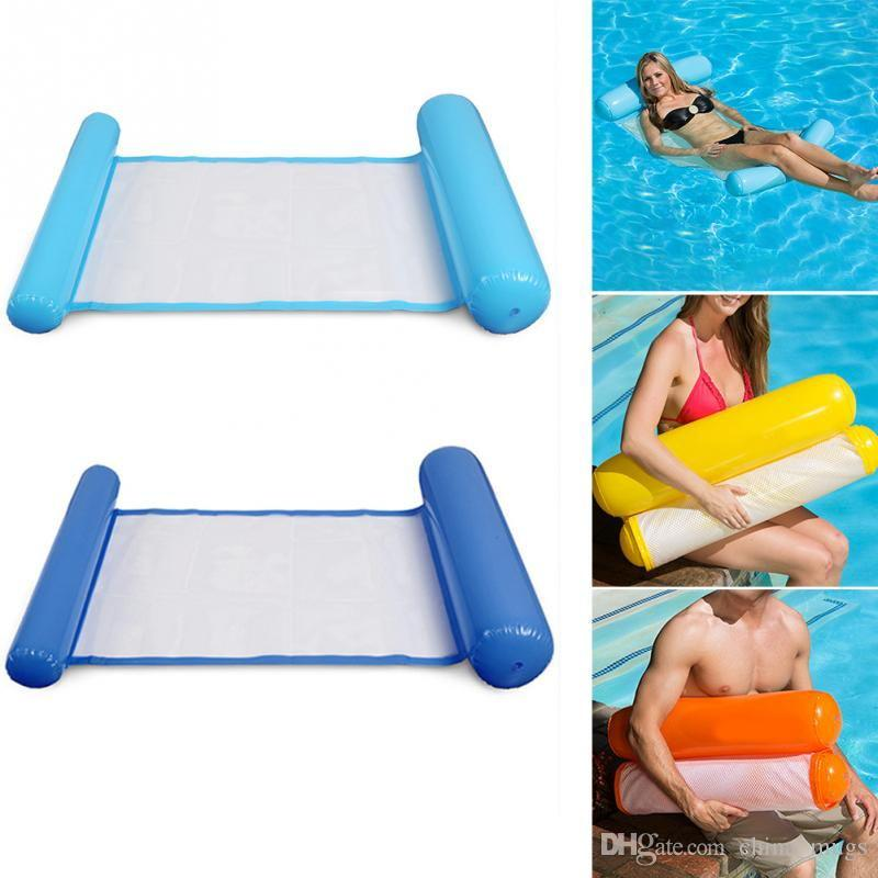 Hot Sunbathe Letto Nuoto Anello Circle Beach Mat Water Party Toys Amaca pieghevole Single PeopleBackrest Recliner Floating Sleeping Bed Chair