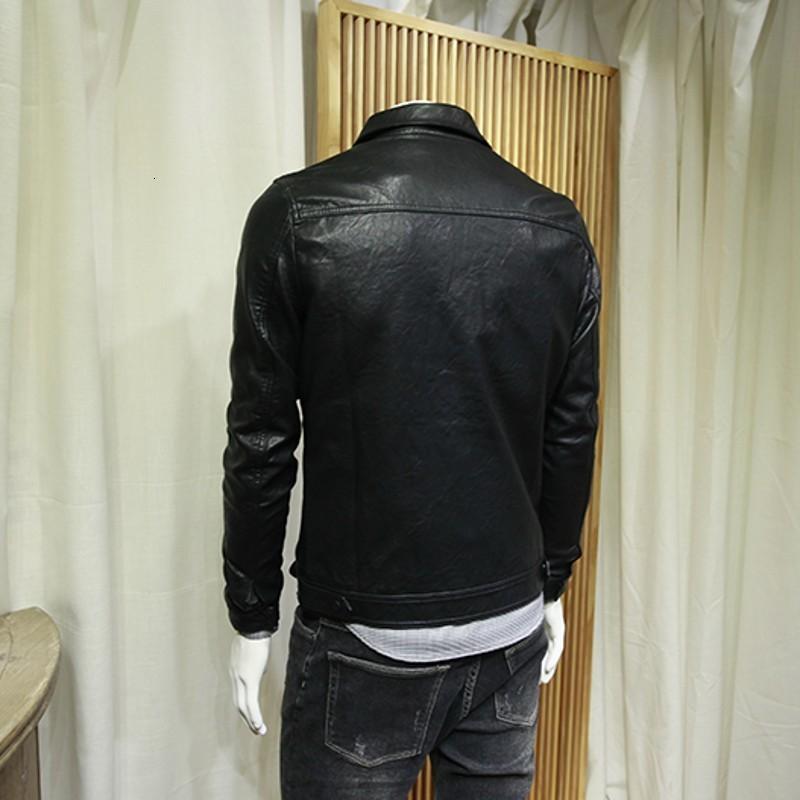 الرجال الفراء فو رجل بو الجلود سترة ربيع الخريف 2021 أسود ضئيلة السائق أعلى جودة أزياء الشارع نمط فاسق واحد برستيد معطف