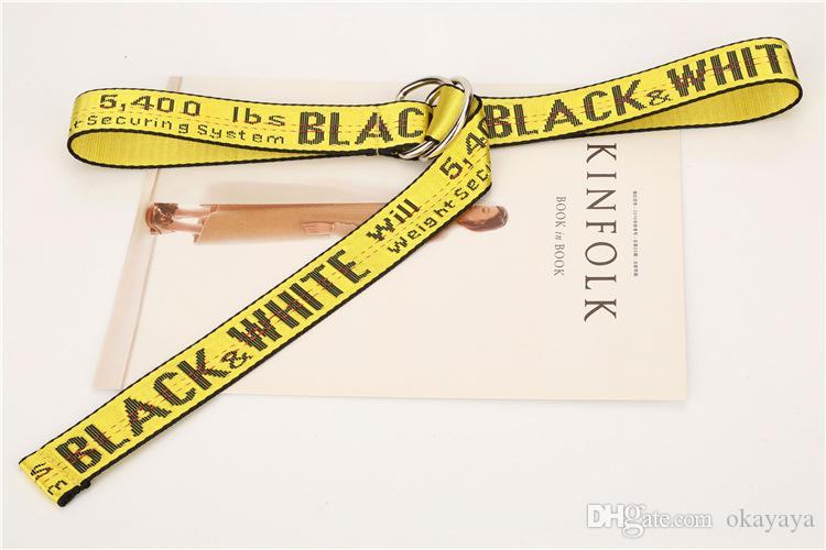 Cintos Moda de Nova Unisex Canvas Impressão Belt Carta Big Buckle alta qualidade Casual 130 a 200cm Jeans Belt