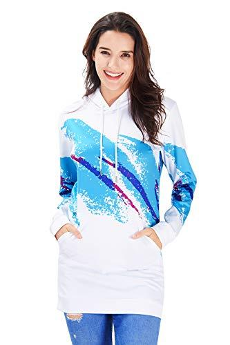 Blue And White Christmas Sweater.Ahegao Women S Hoodie Dress Ugly Christmas Sweater Tunic Pullover 3d Printed Casual Long Sleeve Girls Sweatshirts Big Pockets Buy Women Dress Floral