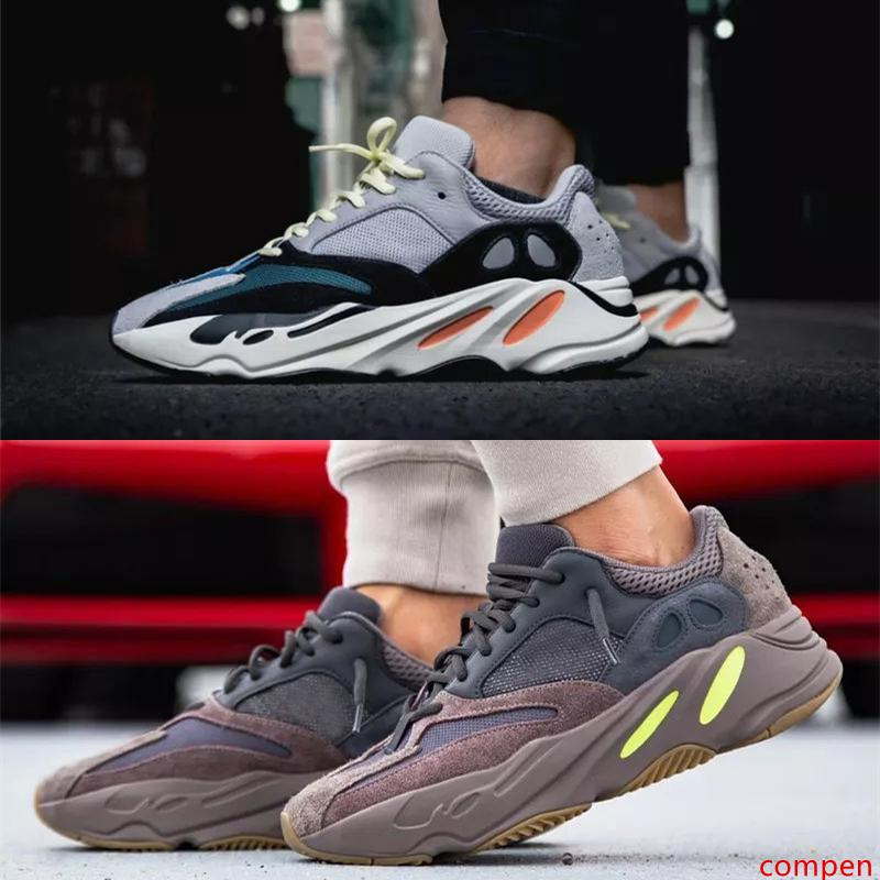 700 Wave Runner Kanye West en plein air Chaussures casual Chaussures Hommes Femmes Hommes Sneakers Bottes de sport 700 V2Sport Chaussures