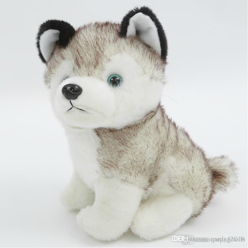 Husky Köpek Peluş Oyuncaklar Küçük Doldurulmuş Hayvanlar Bebek Oyuncakları 18 cm Hediye Çocuk Noel Hediyesi Dolması Peluş Oyuncaklar