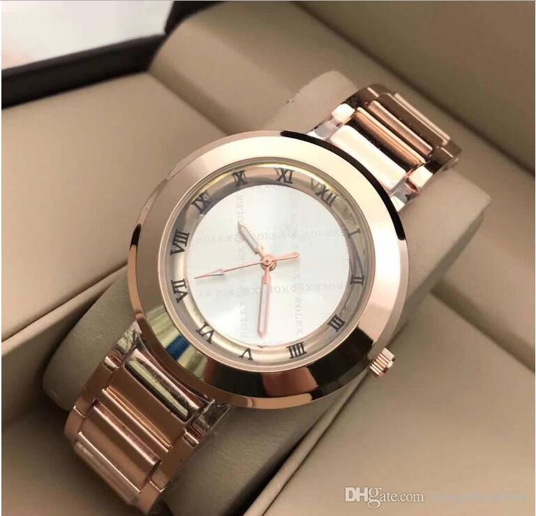 Moda das senhoras do desenhador relógio de ouro branco vestido de diamante cheio relógios das mulheres do relógio de aço inoxidável pulseira de cerâmica