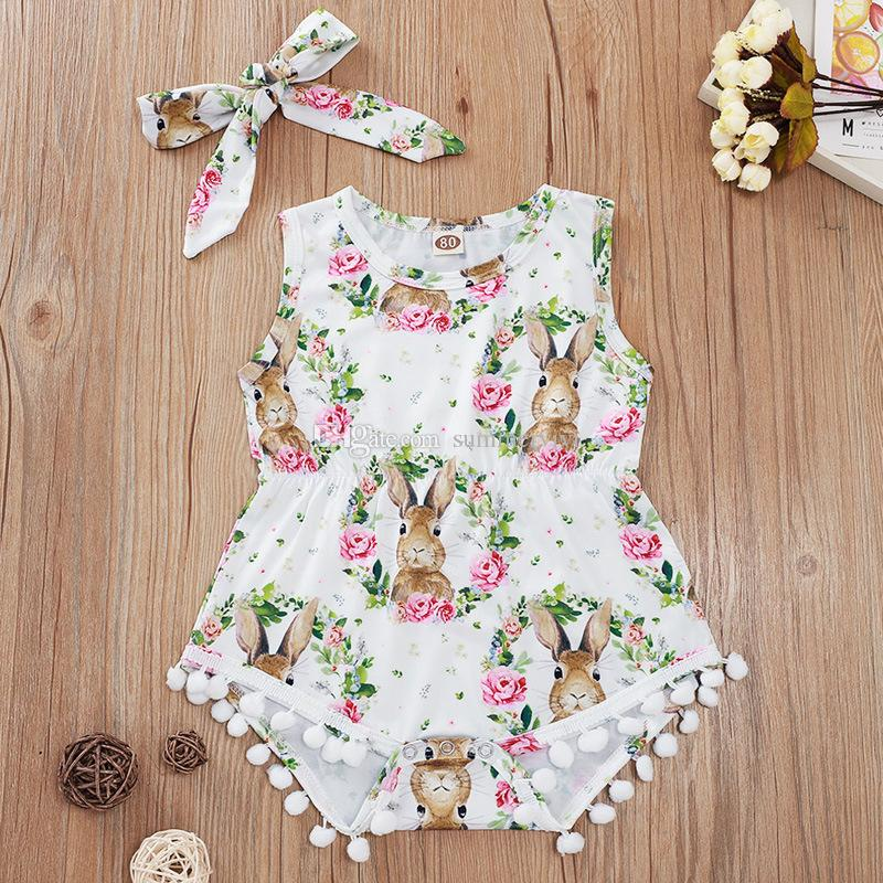 2Pcs Baby Girls Toddler Lace Toddler Jumpsuit Romper+Headband Set Clothes US