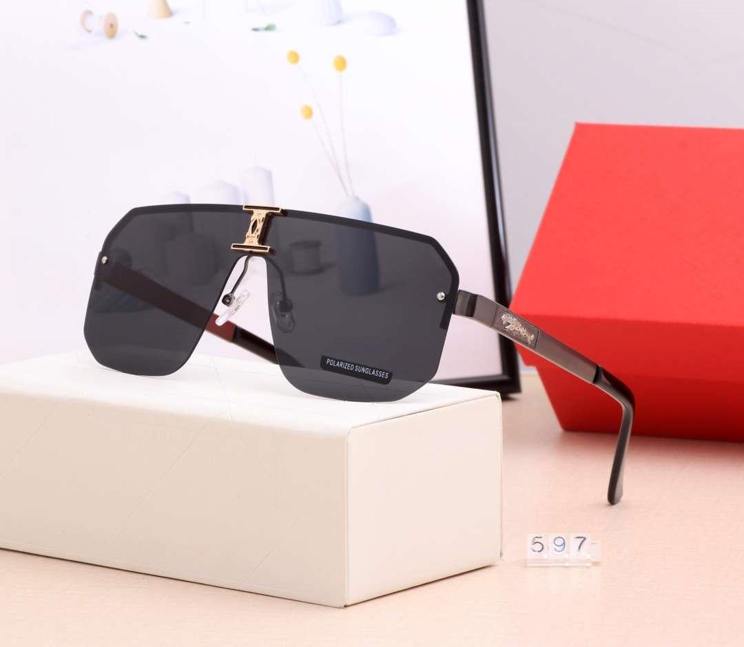 Top Quality Mens occhiali da sole di estate calda degli occhiali da sole di marca Man Beach degli occhiali di protezione UV400 597 5 colori disponibili con la scatola