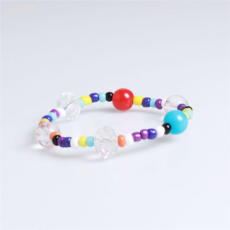 New Kpop Bangtan Boys JK The Same Korean Colored Wristband Lovely Beads Women Bracelets Fashion Anklet Jewelry Accessories