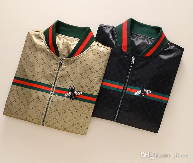 2019.AutumnWinter nuova manica lunga dal design di lusso Medusa giacca a vento giacca casual da uomo maschile # 3331