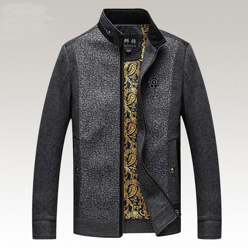 Giacche vendita calda uomo autunno casual maschile abbigliamento di marca a mosaico del rivestimento del collare del basamento Plus Size 3XL HJ416