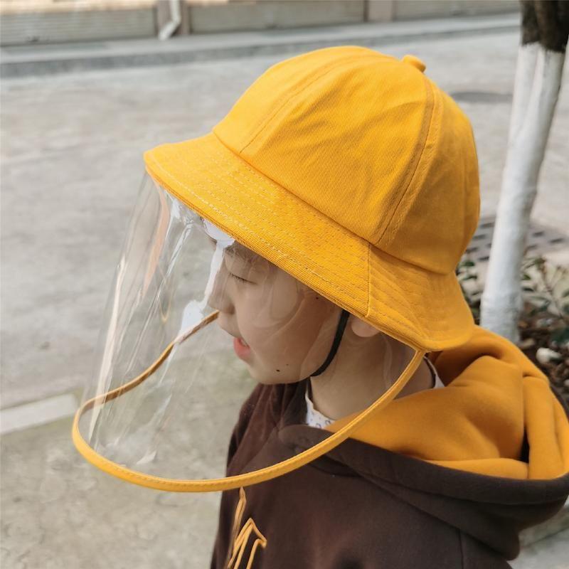 Bambini Bambini anti-sputo di protezione antipolvere della copertura del cappello dei capretti delle ragazze dei ragazzi del pescatore del cappello della protezione Fcecover Cappuccio di protezione per il bambino