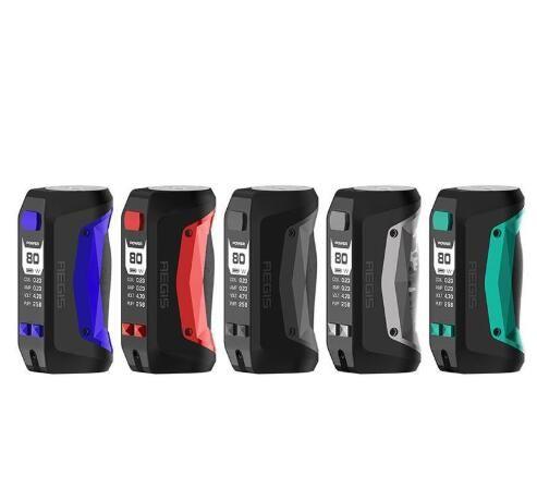 배터리가 내장 된 정통 Geekvape Aegis Mini 80W TC 박스 모드 2200mAh 완전히 새로운 AS 칩셋 E Cig 배터리 모드