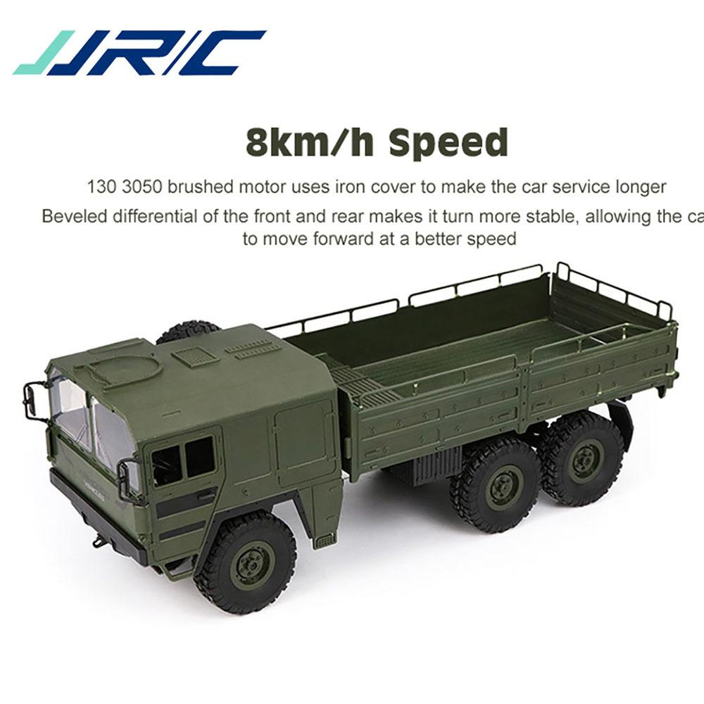Original JJRC Q64 RC Car 1/16 2.4G 6WD Military Truck Off-road Rock Crawler Toy 6 Wheels Racing Toys For Children Kids Gifts Y200317