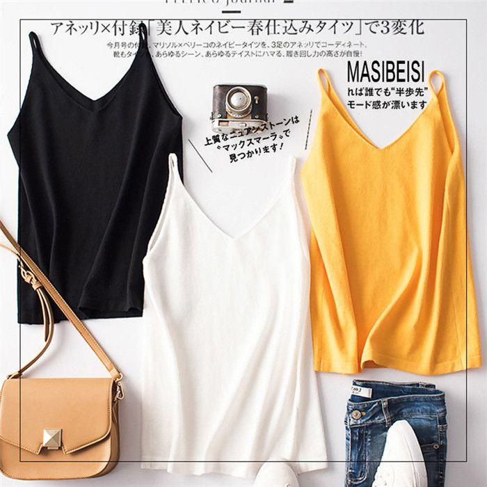Frauen-reizvolle V-Ausschnitt Crop Top Fashion Sommer Normallack-Sleeveless Designer Famale Kleidung Lässige Camis