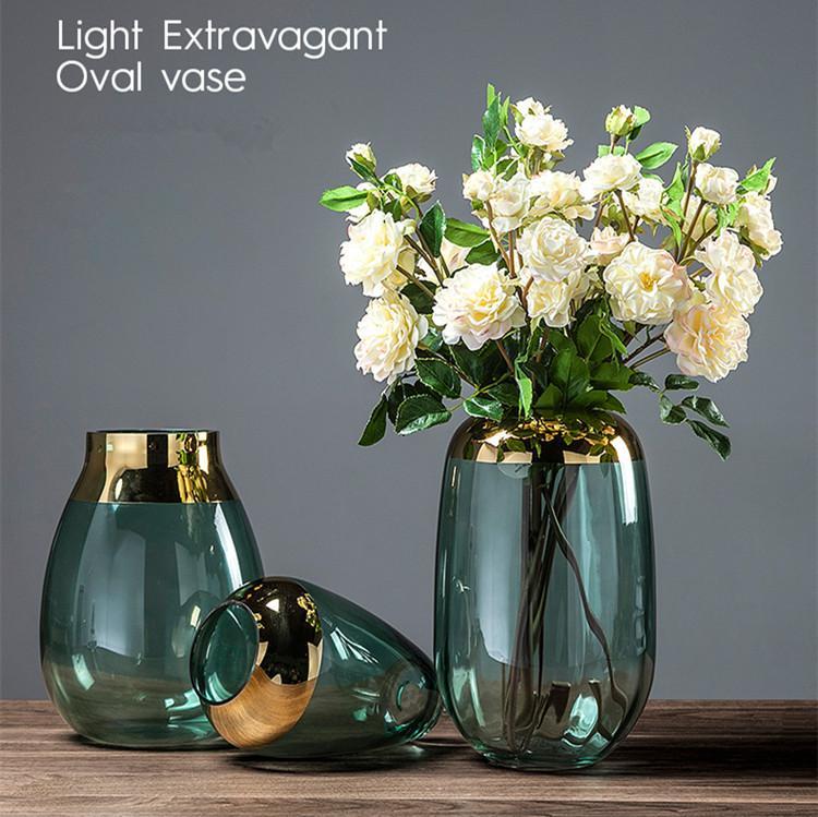 Hohe Blumen-Hochzeit Dekorative Farbiges Glas Vase Großhandel