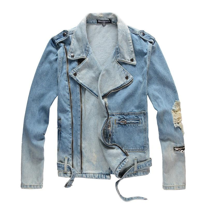 Balmain Mens Jacket Fashion Coat Men Women Denim Coat Casual Hip HopStylist Jacket Mens Clothing Size M-4XL