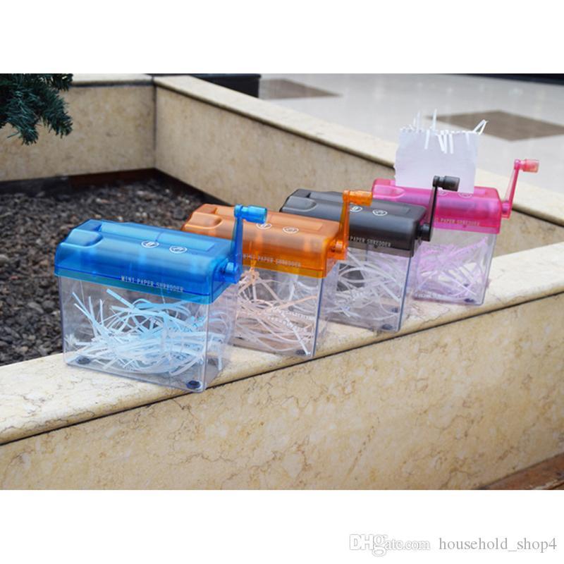 Mini trituradora trituradora de documentos en papel destructor corte de la máquina-SCLL trituradoras para estudiantes o de oficina papel de tamaño A6