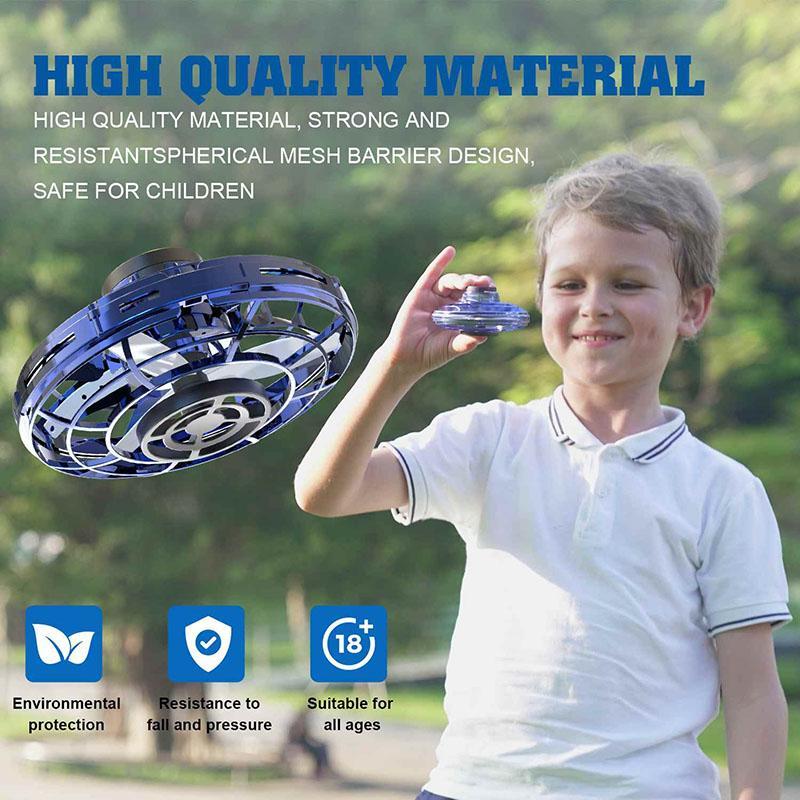 Tipo Flynova mini drone LED UFO del helicóptero spinner yema del dedo Actualiza Vuelo Gyro Drone Aviones juguete adulto regalo de los niños