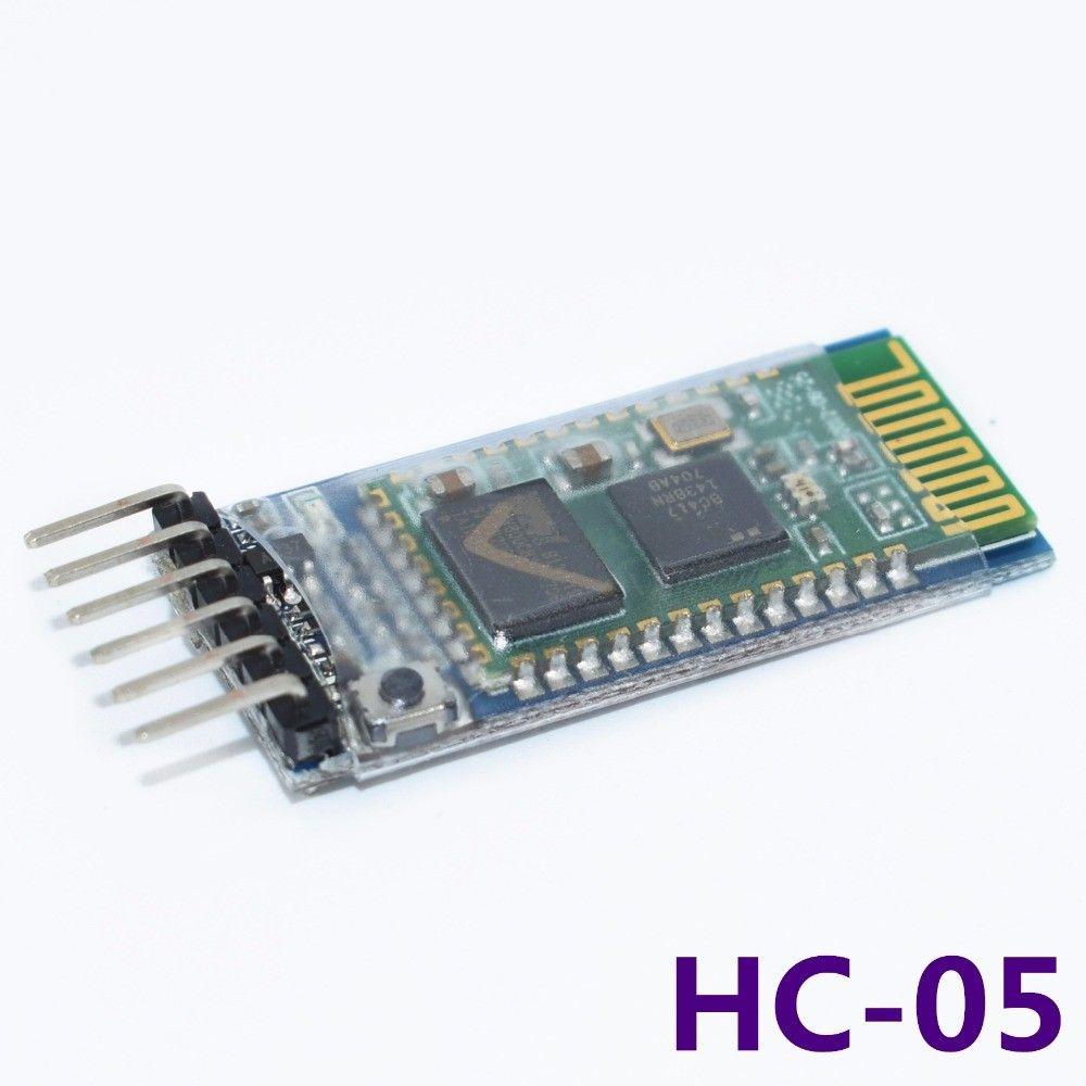 10 pçs / lote HC05 JY-MCU anti-reverso, integrado módulo de passagem serial Bluetooth, HC-05 mestre-escravo 6pin freeshipping