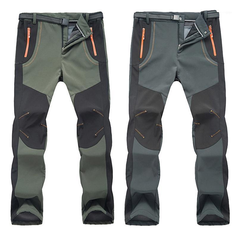 Softshell calças Novas calças de inverno homens mulheres caminhadas calças ao ar livre à prova d'água impermeável térmico à prova de vento para camping esqui escalada 0031