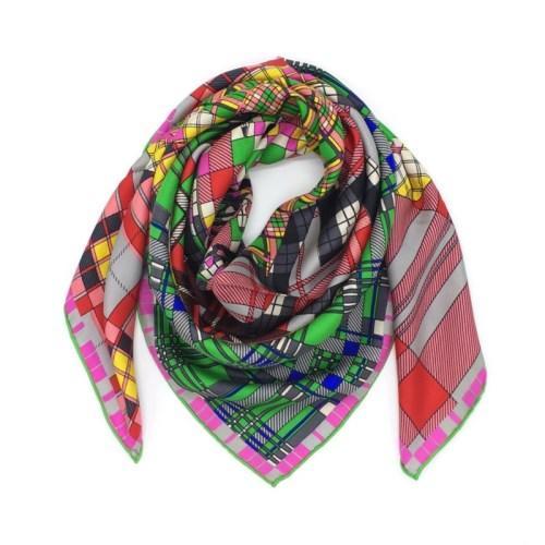 All'ingrosso-Nuovo delle donne di disegno di marca sciarpe quadrate 100% seta di formato materiale cavallo di stampa piazza sciarpa 90cm - 90cm per signora