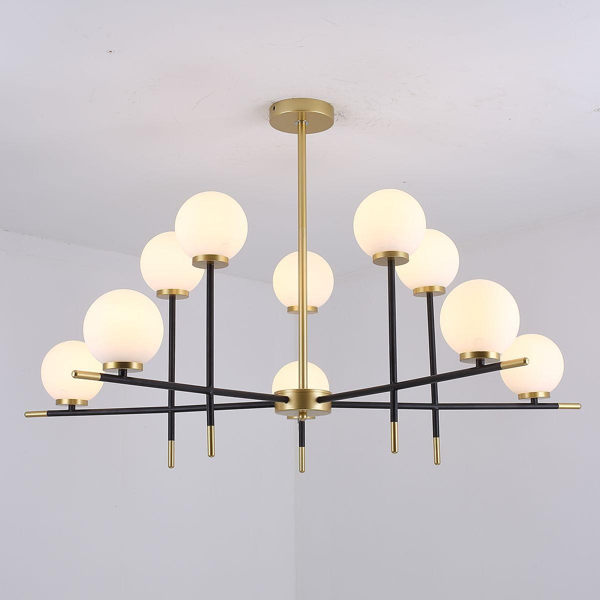 Kronleuchter moderne minimalistische kreative Persönlichkeit Restaurant Licht goldene magische Bohne Stehtisch Wohnzimmer Lampe Nordic Lampen