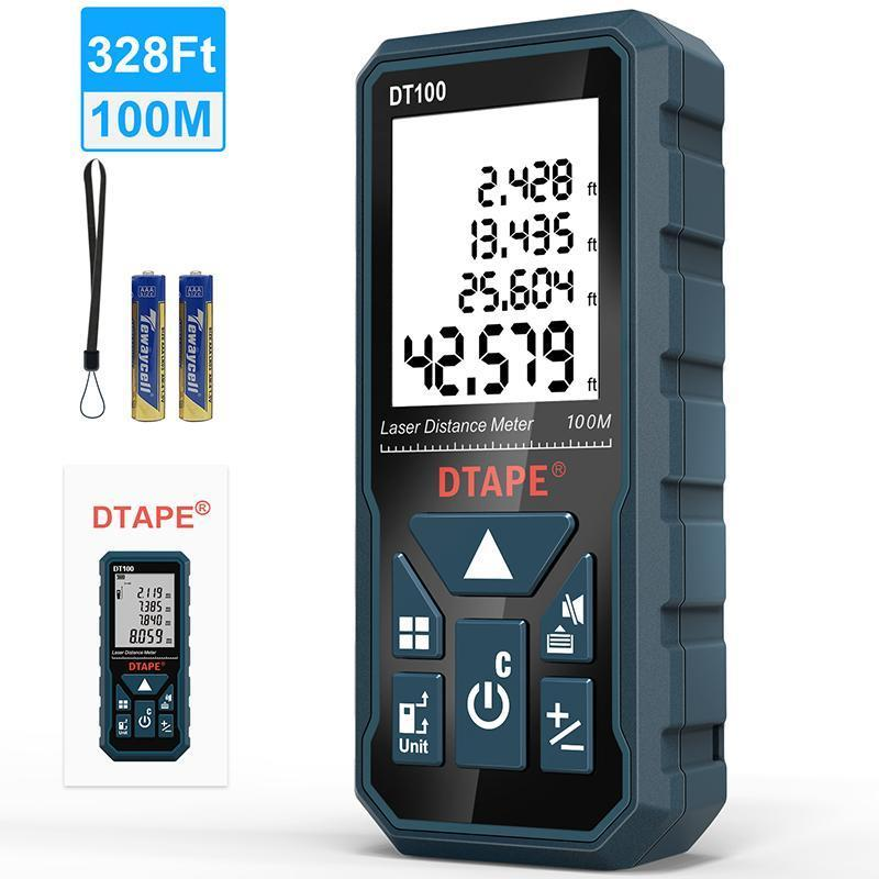 DTAPE laser distance meter 50M 100M rangefinder laser tape range finder build measure device ruler test tools T200603