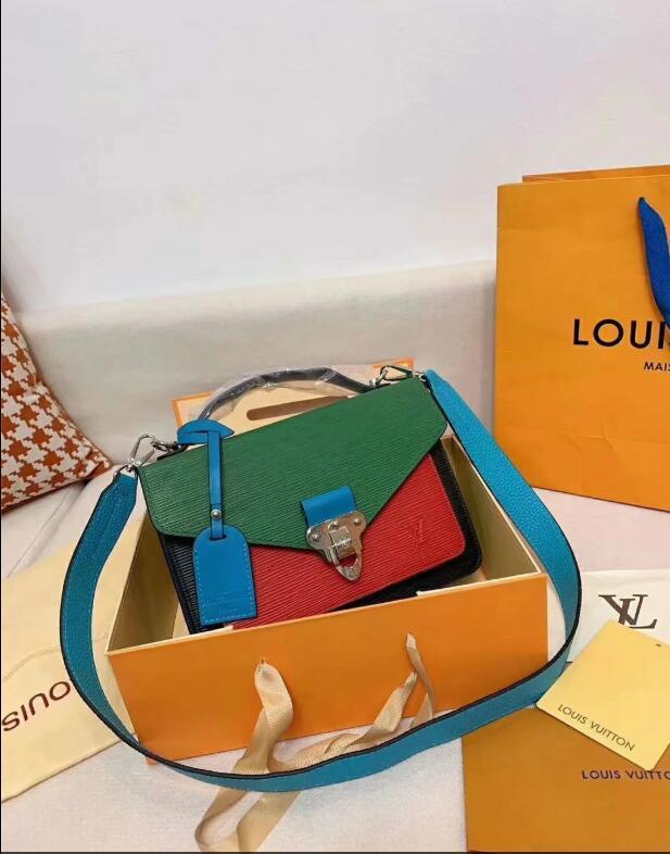 2020 Qualitäts-klassische Mode-Art-Frauen Handtaschen Schulter-Geldbeutel-Beutel-Kurier-Mappen-Beutel Dame Totes Taschen und Staub frei Verschiffen A22