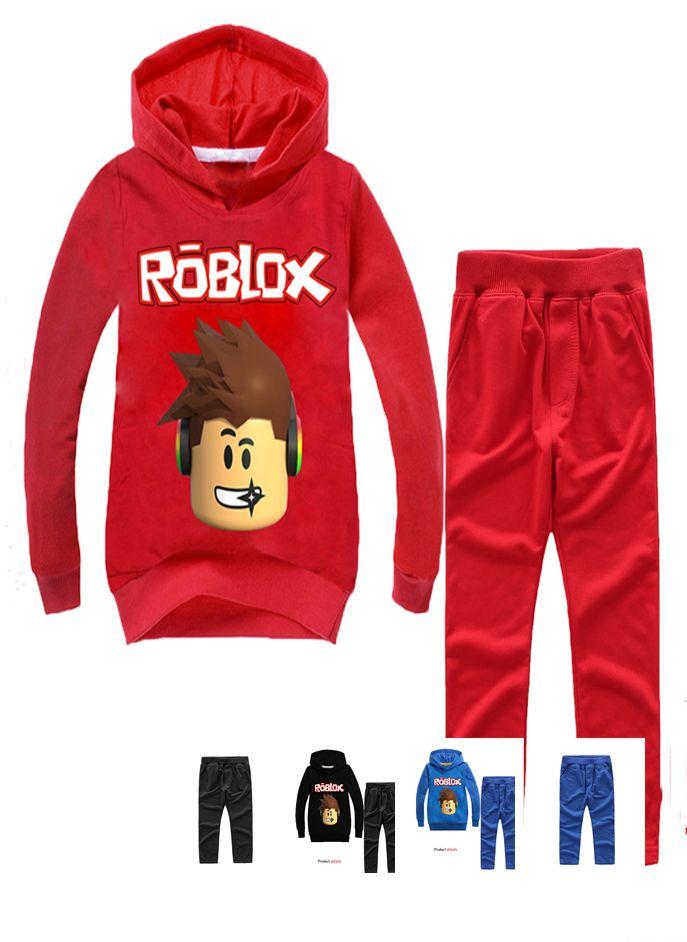 어린이 스웨터 ROBLOX RED 코 DAY 빅 보이 소년 까마귀 셔츠 스웨터 스웨터 정장 코스프레 소품
