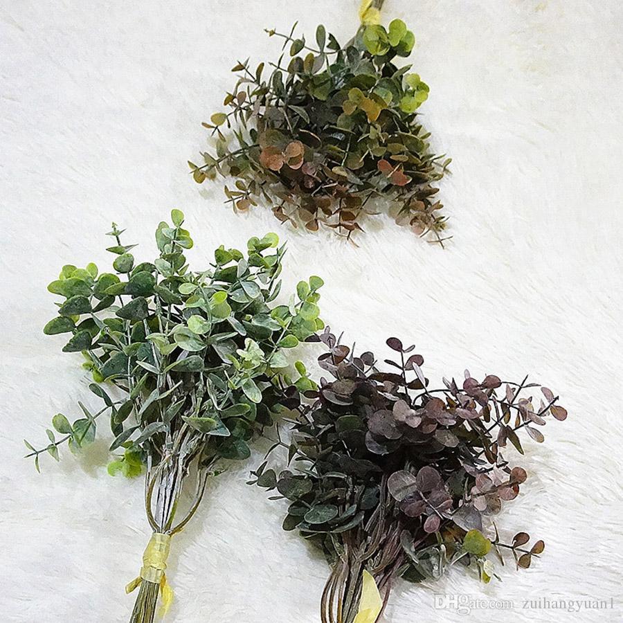 2020 Bunch Artificial Flowers Eucalyptus Artificial Plants Faux Plastic Hand Bouquet For Wedding Home Decoration From Zuihangyuan1 0 95 Dhgate Com