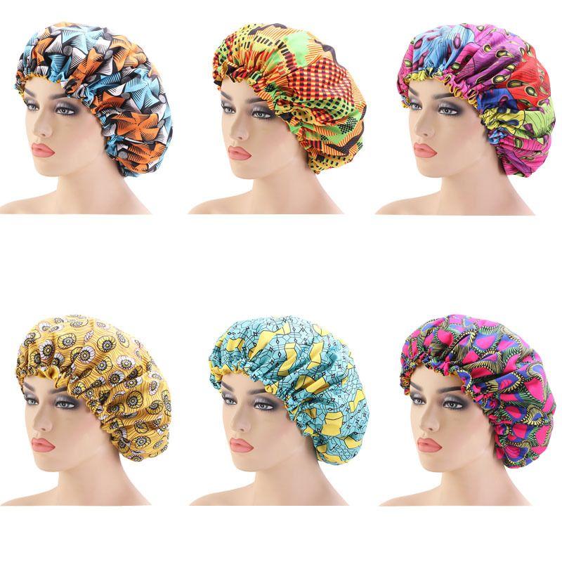 여성 새틴 패션 실키 큰 보닛 보닛 밤 수면 모자 겨울 모자 아가씨 소라 Headwrap 모자 헤어 랩 액세서리를 줄 지어