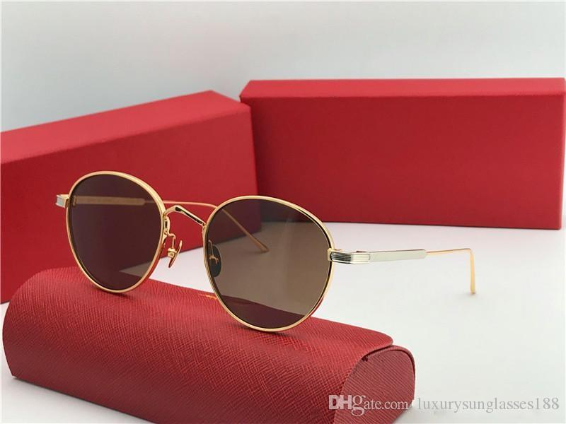 New Fashion Designer Sunglasses 0009s Retro Round K Gold Frame Trend Avant Garde Style Protection Eyewear Top Quality With Box Baseball Sunglasses John Lennon Sunglasses From Luxurysunglasses188 46 9 Dhgate Com