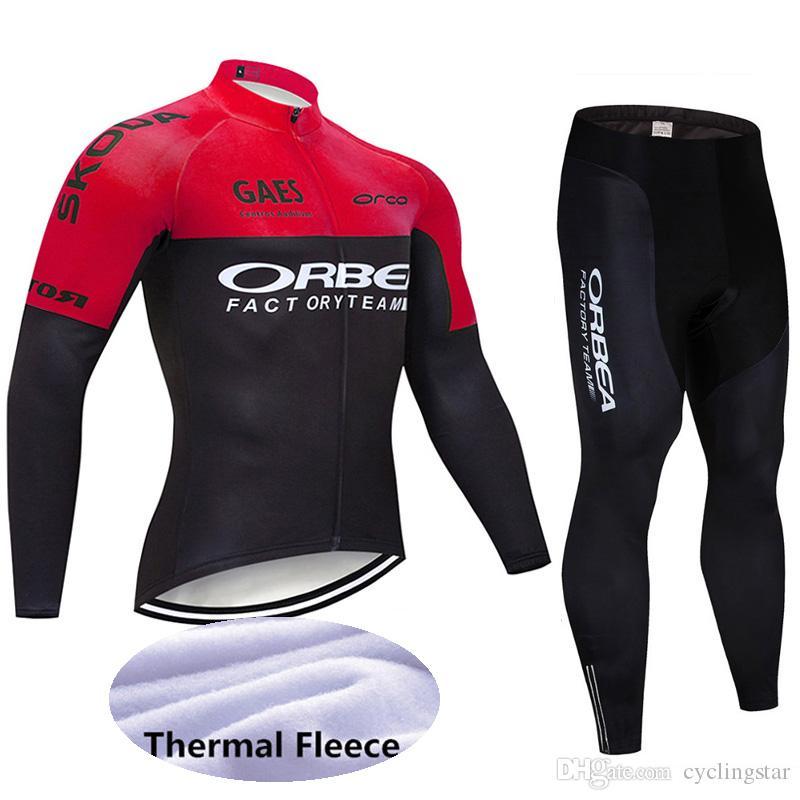 ORBEA BLUE Cycling Jersey Long Sleeve Shirt Winter Bike Ropa Ciclismo MTB Maillo